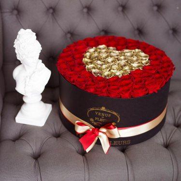 """Премиум розы """"Золотая любовь"""""""