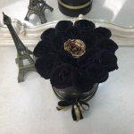 Черные розы в коробке Black Point Бизнес-букеты Золотые Venus in Fleurs