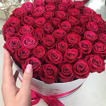 Купить Малиновые розы с доставкой в Москве
