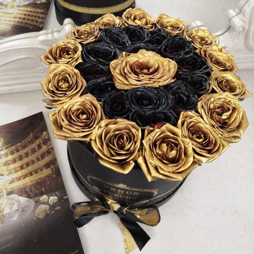 Black Spiral от 9 шт. Бизнес-букеты Золотые