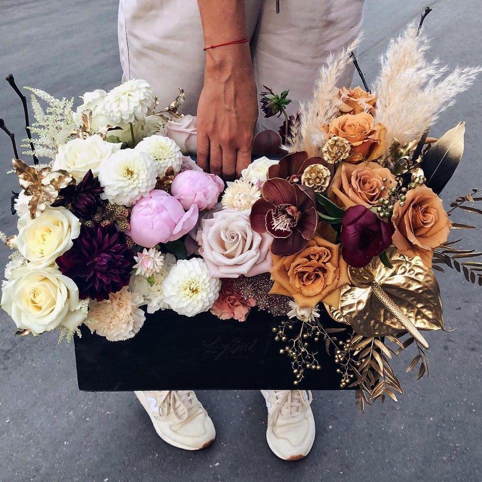 """Кашпо """"Осенний букет"""" Бизнес-букеты Белые Venus in Fleurs"""