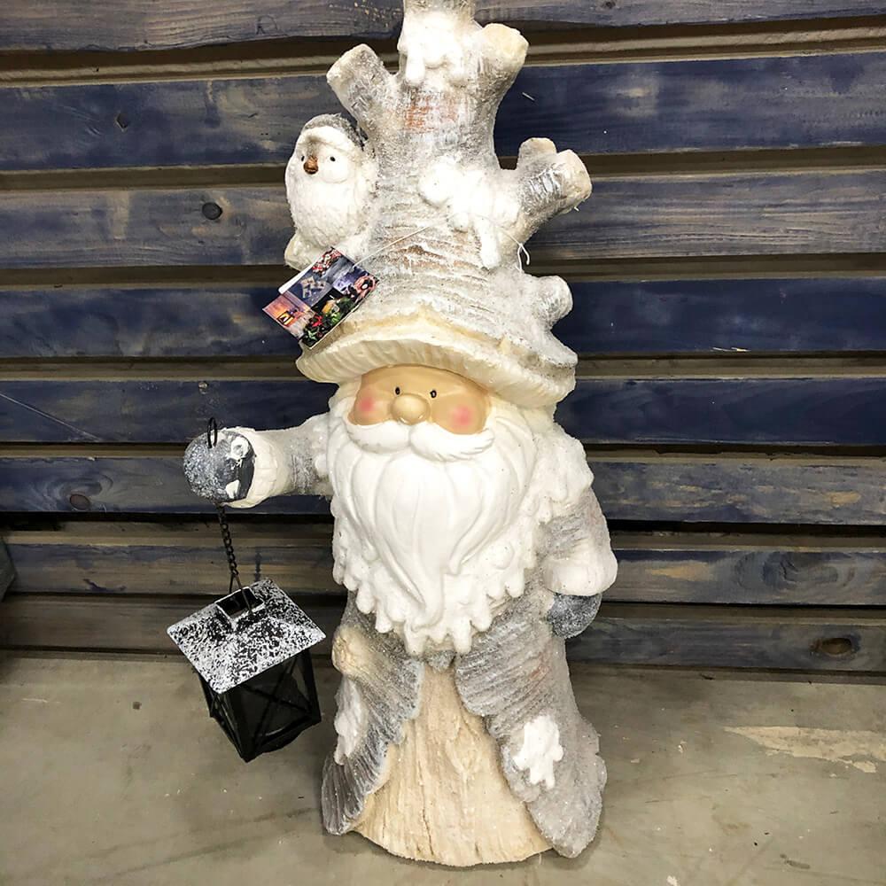 Дед мороз из камня с фонариком - 55 см. Venus in Fleurs