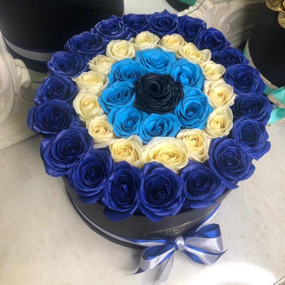 Синяя спираль Синие розы Синие Venus in Fleurs