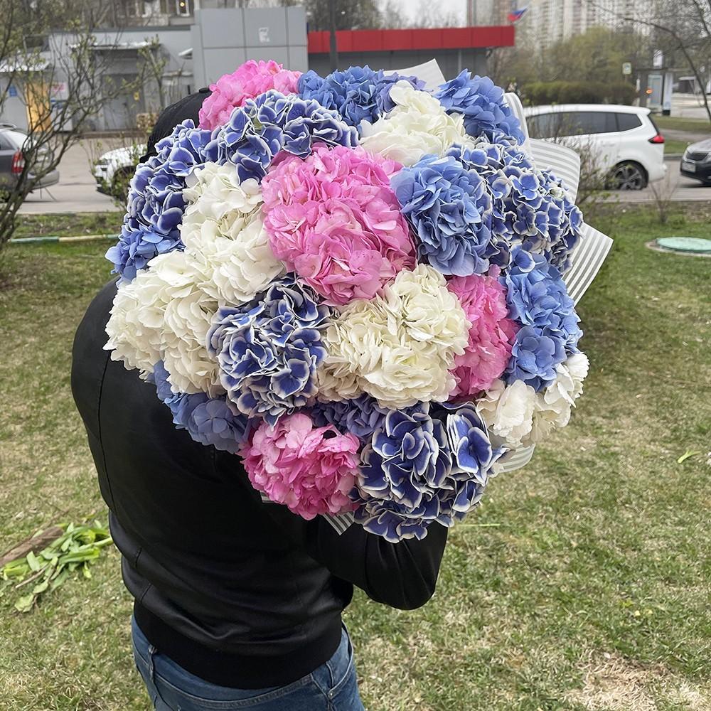 19 гортензий в букете Гортензии Розовые Venus in Fleurs
