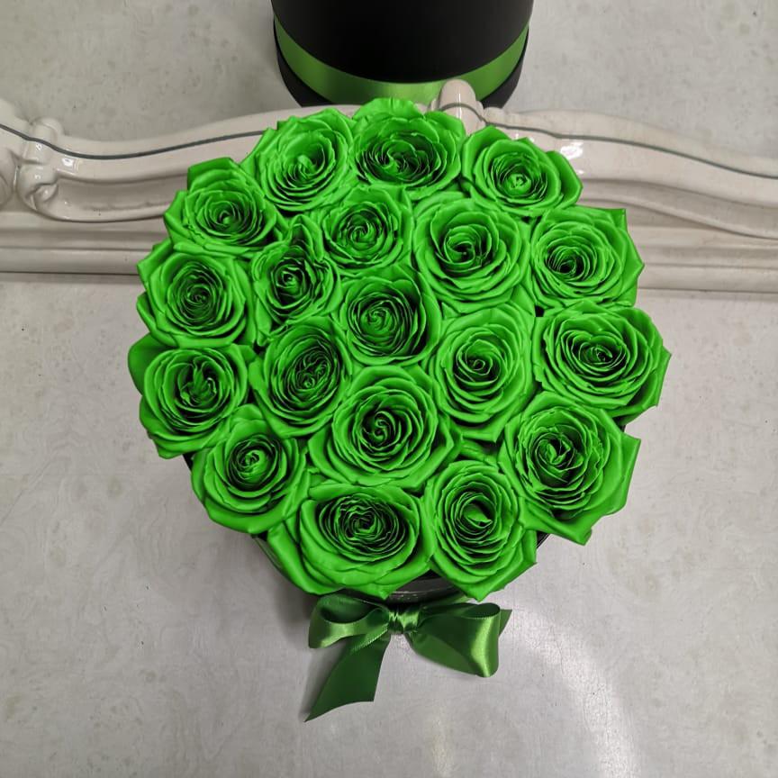 31 зеленая роза в коробке 31 роза в коробке Зеленые Venus in Fleurs