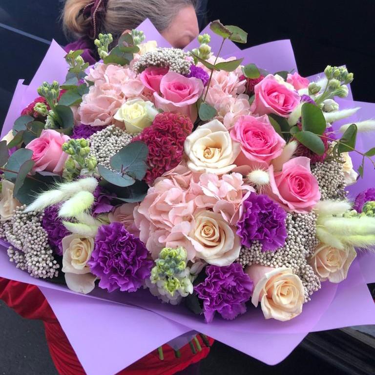 101 роза - букет вдохновение Букет из 101 розы Розовые Venus in Fleurs