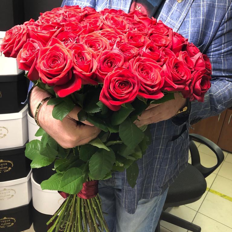 Букет роз 80 см. Букеты Красные