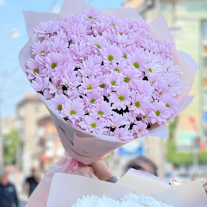 51 фиолетовая хризантема в букете Хризантемы Фиолетовые Venus in Fleurs