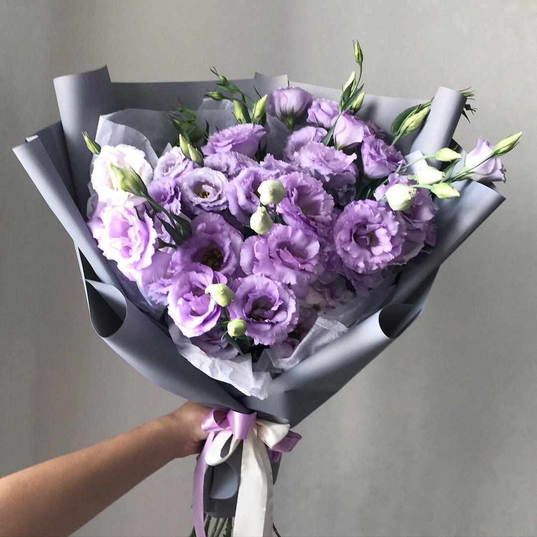 19 фиолетовых эустом Эустомы Фиолетовые