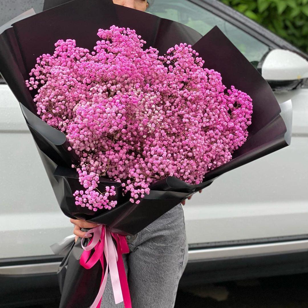 25 розовых гипсофил в букете Гипсофила Розовые Venus in Fleurs