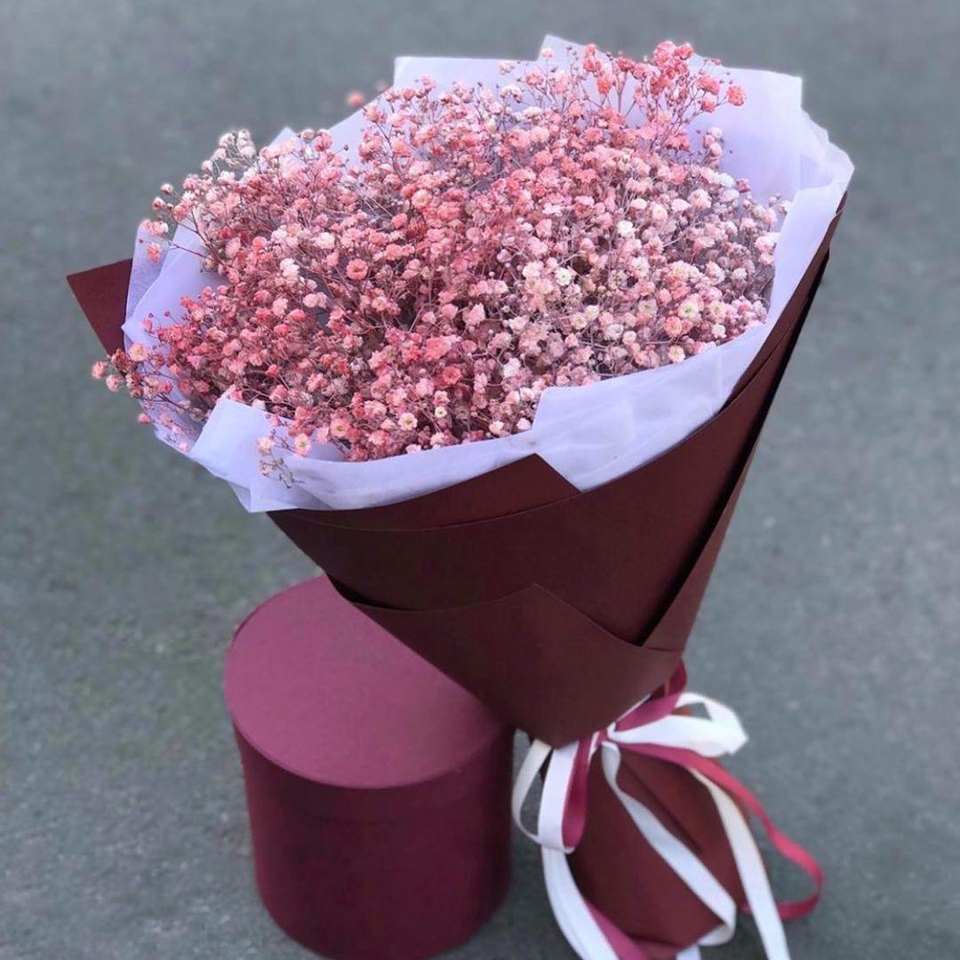 25 нежных гипсофил в букете Гипсофила Розовые Venus in Fleurs