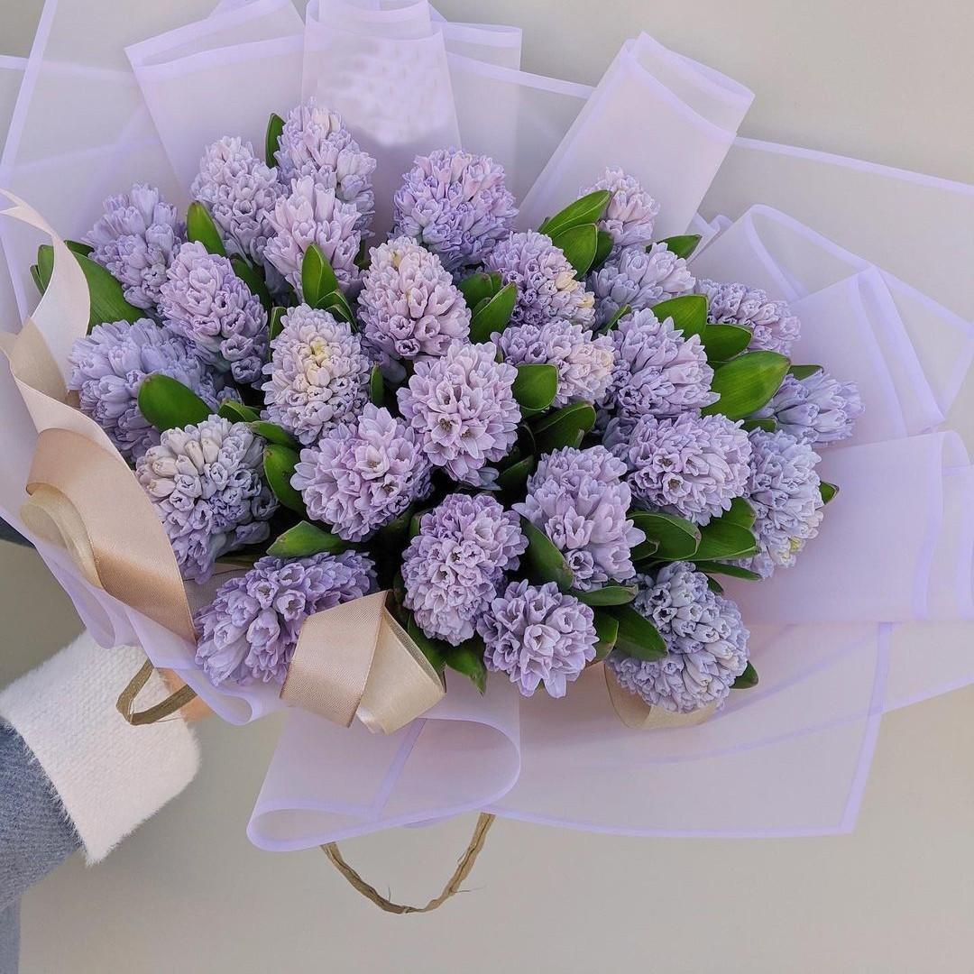 19 фиолетовых гиацинт в букете Гиацинты Фиолетовые Venus in Fleurs