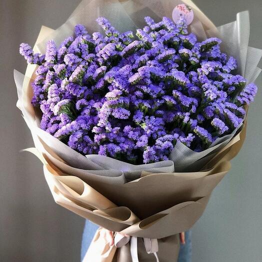 19 фиолетовых лимониумов в букете Лимониум Фиолетовые Venus in Fleurs