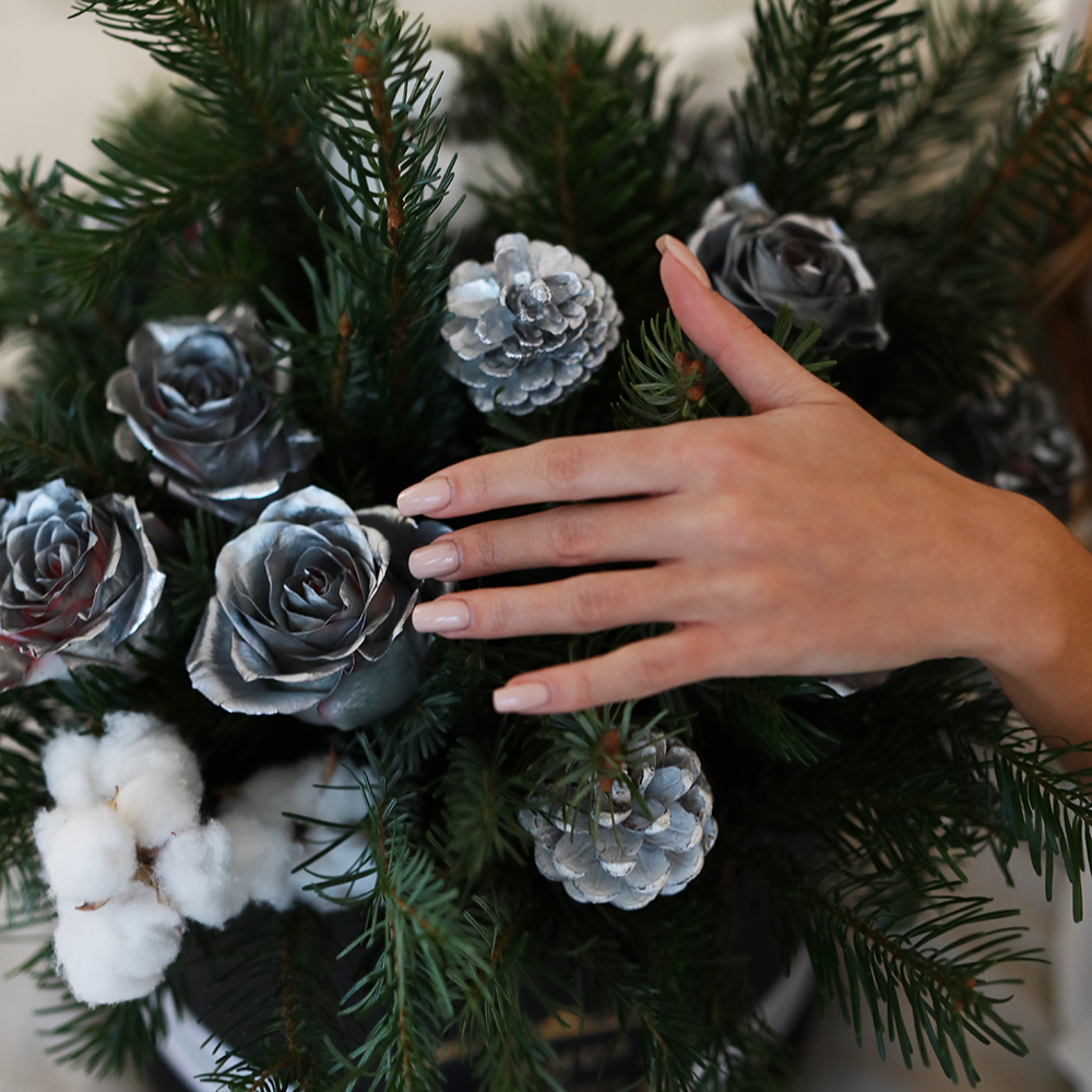 Букет Новогодняя сказка Новый год Белые Venus in Fleurs