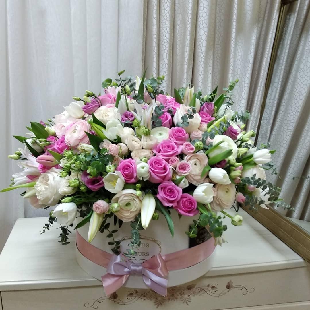 Весенняя рапсодия VIP букеты Розовые Venus in Fleurs
