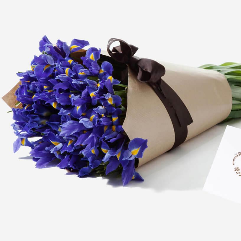 Букет синих ирисов Букеты Синие
