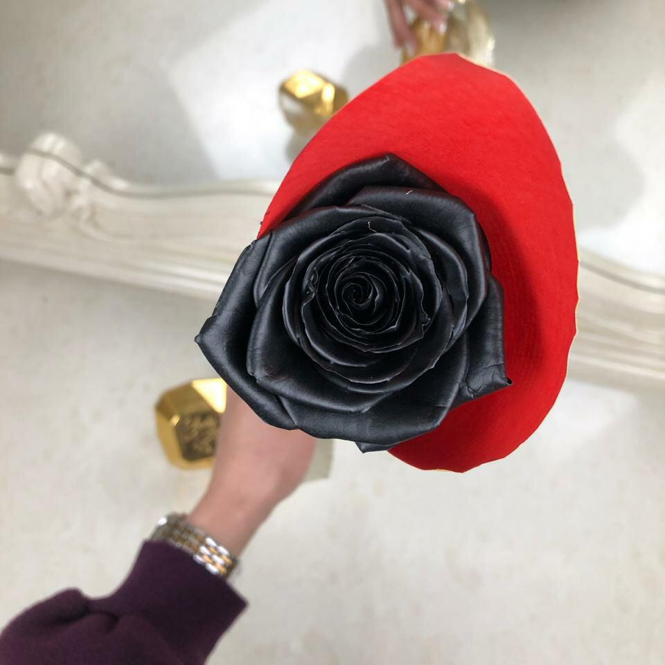 Черная роза поштучно Букеты Черные Venus in Fleurs