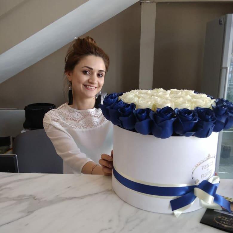 Деловой букет Бизнес-букеты Синие Venus in Fleurs