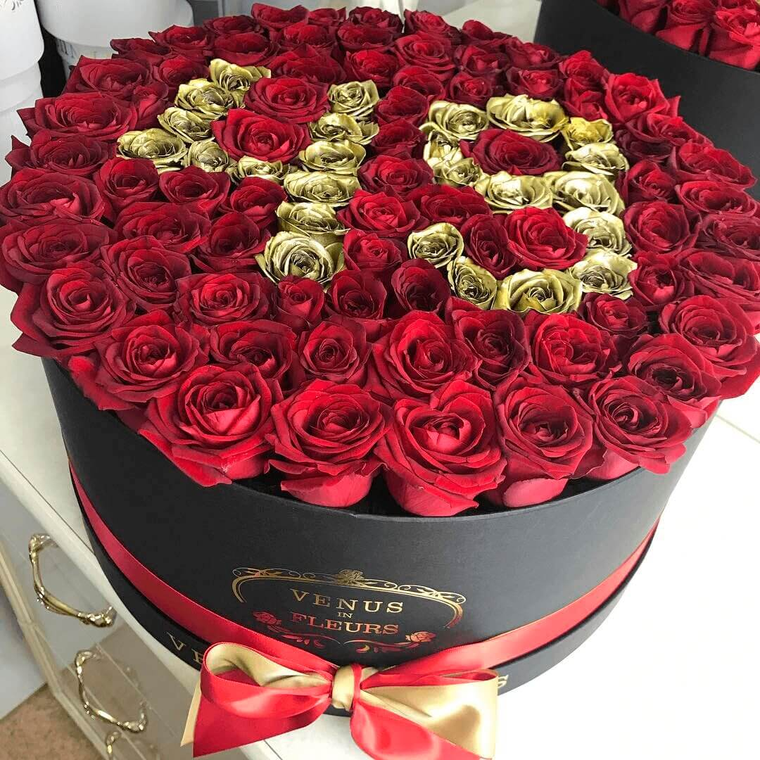 Красные розы на день рождения Розы в коробке Красные