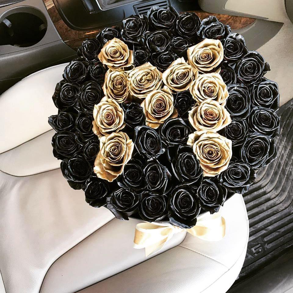 Стильный букет роз Бизнес-букеты Золотые