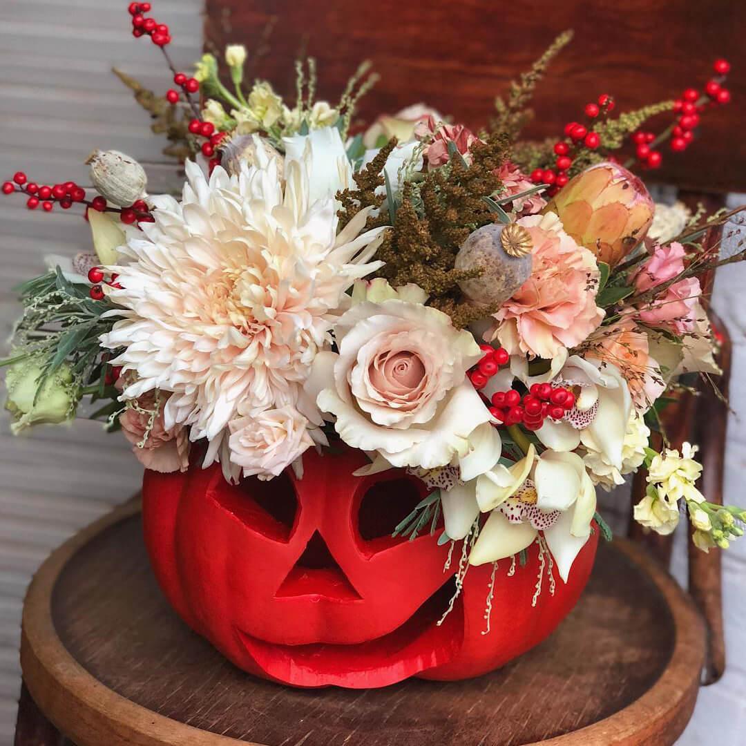 Композиция на Хэллоуин Хэллоуин Красные Venus in Fleurs