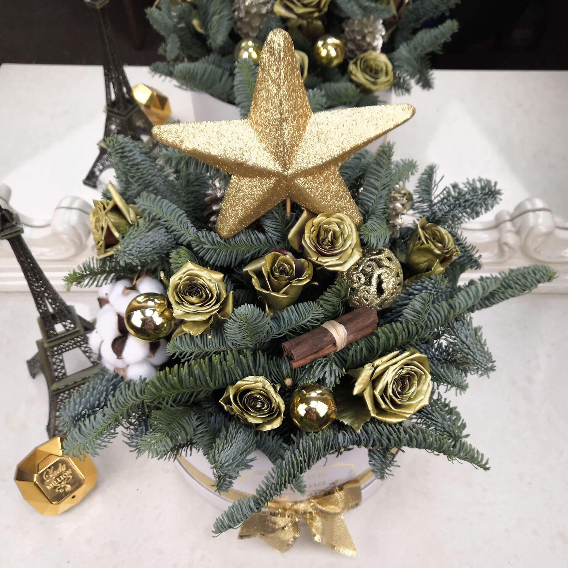 Подарок из Елки на новый год Новый год Золотые