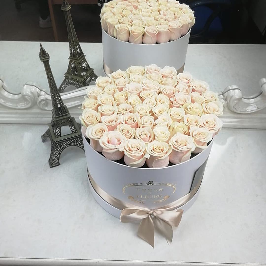 Кремовые розы Бизнес-букеты Кремовые Venus in Fleurs