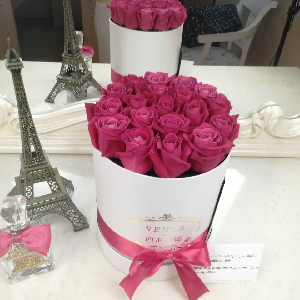 Малиновые розы Бизнес-букеты Малиновые Venus in Fleurs