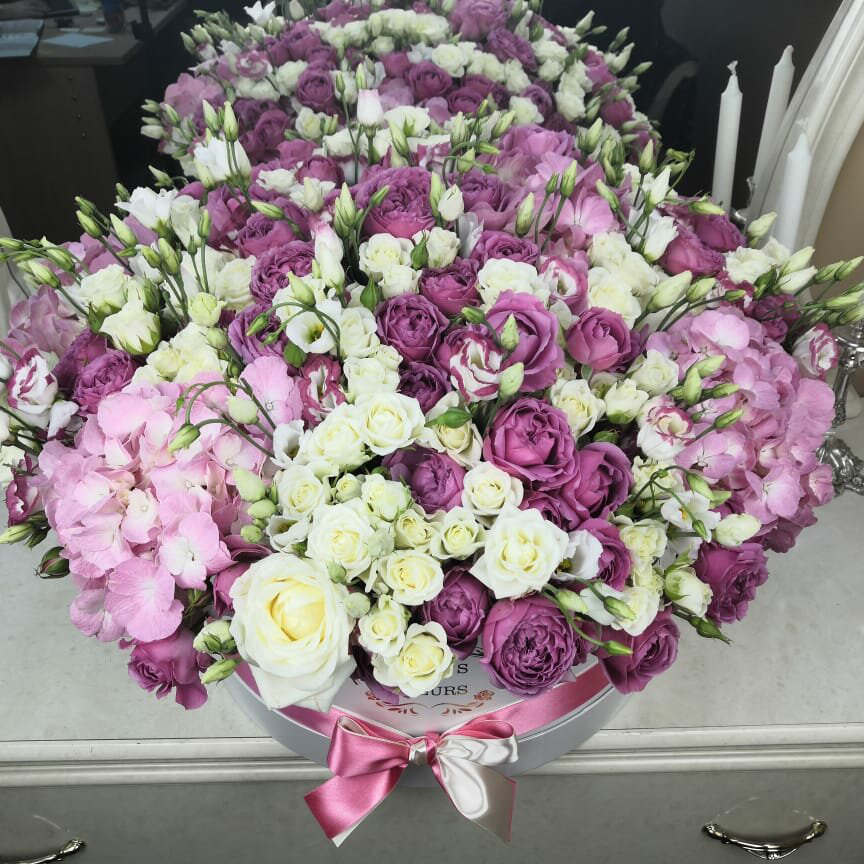 """Потрясающий букет """"Комплимент"""" Букеты Белые Venus in Fleurs"""