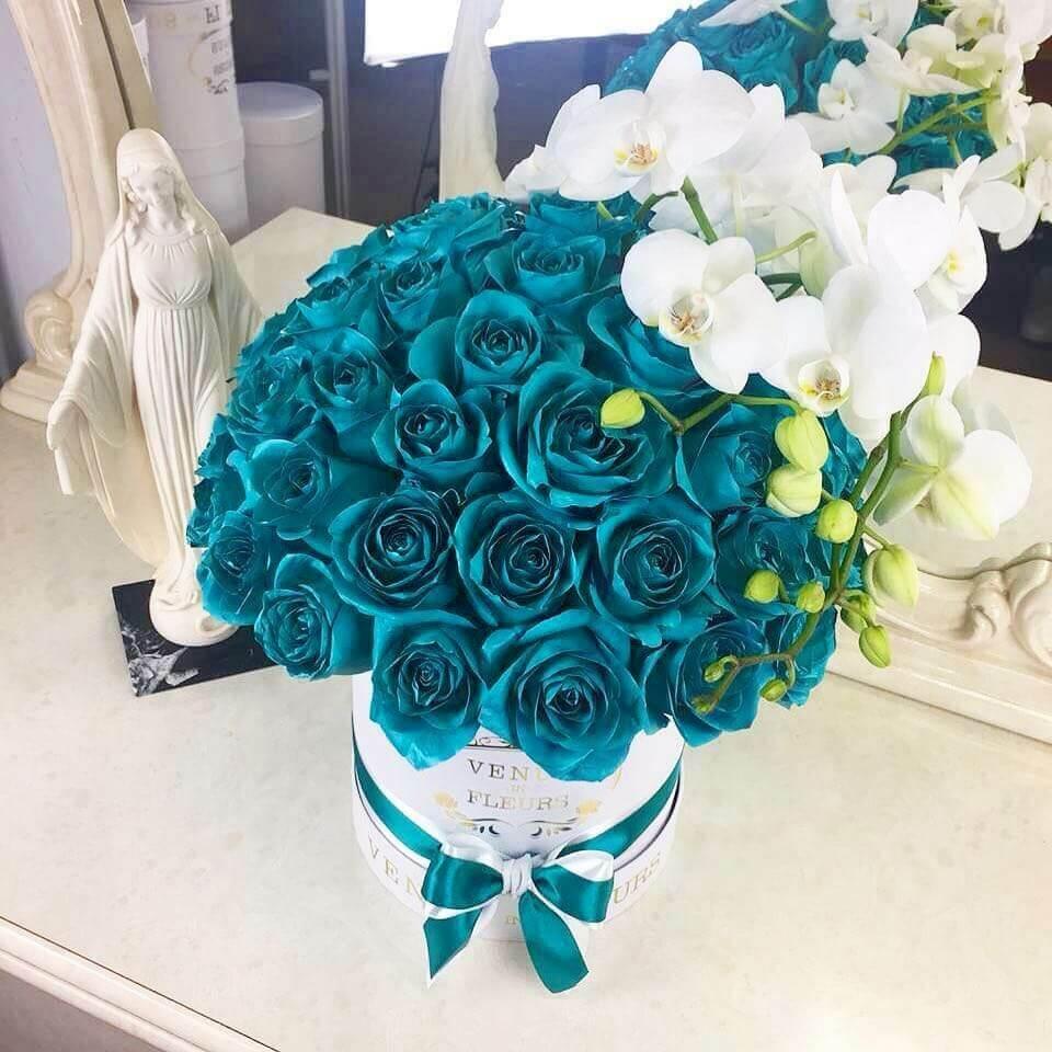 Тиффани розы с орхидеей Бизнес-букеты Белые Venus in Fleurs