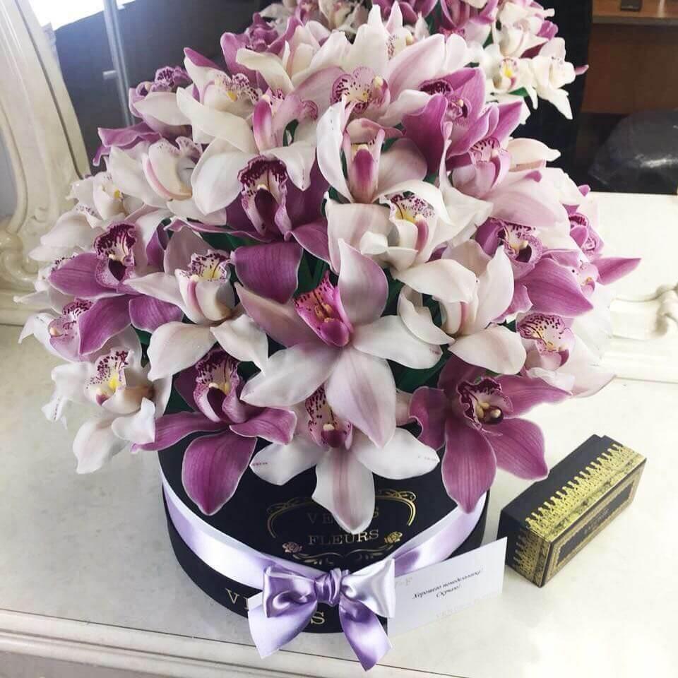 Фиолетовые орхидеи Бизнес-букеты Фиолетовые