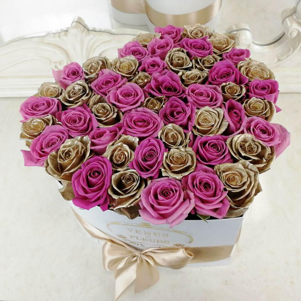 Розы - доброе утро Бизнес-букеты Розовые Venus in Fleurs