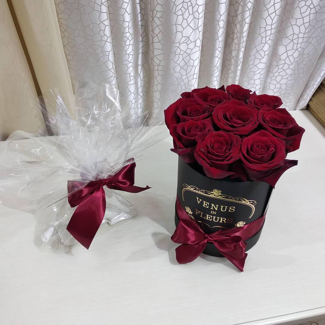 9 красных роз Бизнес-букеты Красные Venus in Fleurs