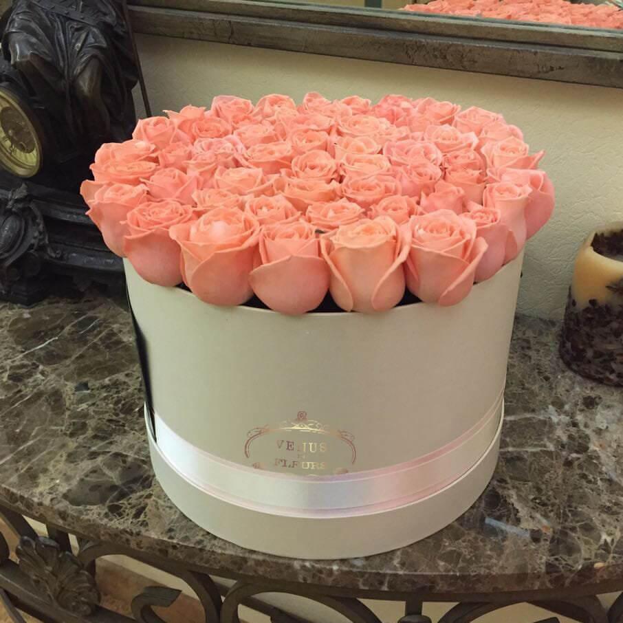 """Розовые розы """"Карина"""" Бизнес-букеты Розовые Venus in Fleurs"""