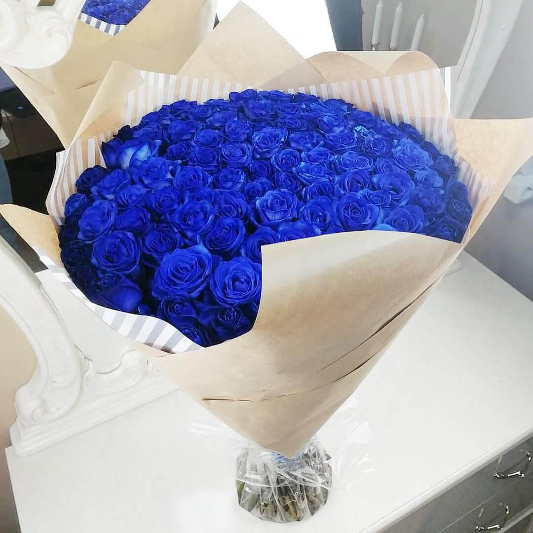 Букет синих роз Синие розы Синие Venus in Fleurs
